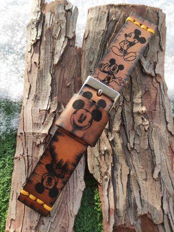 Na sprzedaż pasek do zegarka, szerokość 22 mm, handmade, skóra, nowy