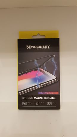 Wozinsky strong magnetic case iPhone 7 Plus front glass Clear + Black