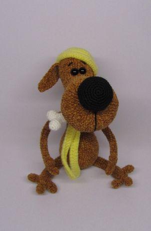 Пес Понтий вязаная игрушка ручная работа собака