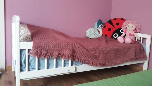 Drewniane łóżeczko łóżko 140x70
