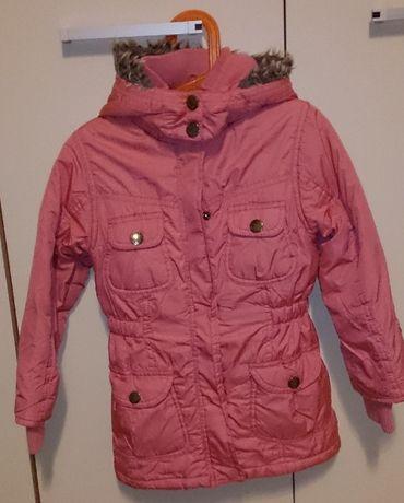 kurtka zimowa płaszcz z kapturem ocieplana rozmiar 110 Cool Club
