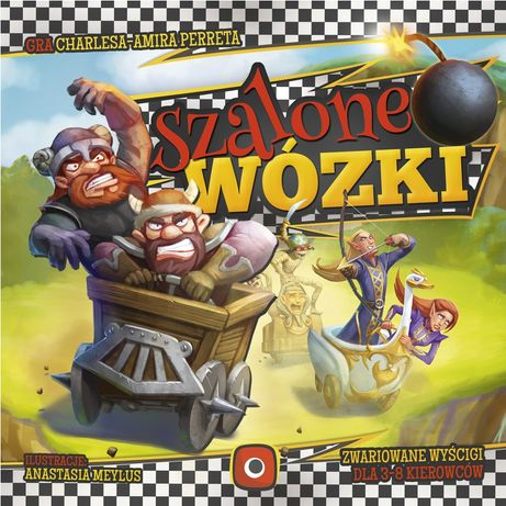 Gra planszowa Szalone Wózki