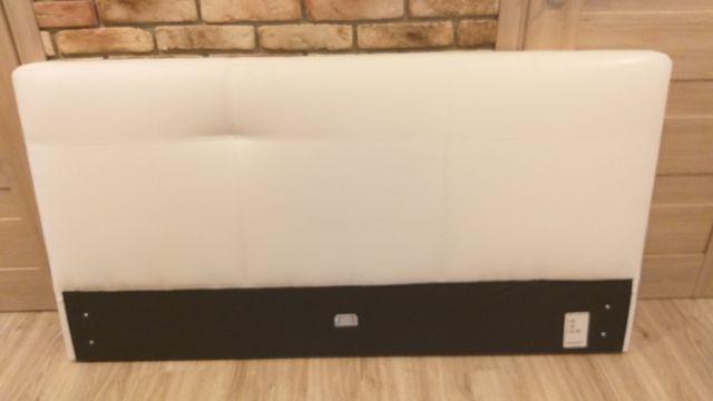 Wezgłowie, zagłówek do łóżka 160 tapicerowane białe