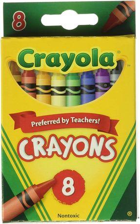 Мелки Crayola 8 цветов