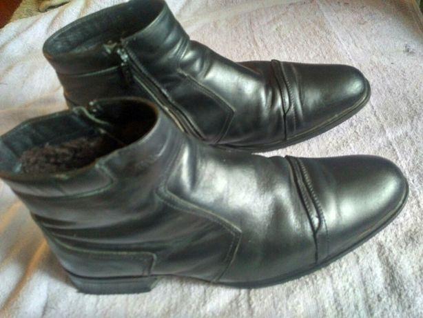 Ботинки мужские зимние кожаные сапоги Febi р43  28см