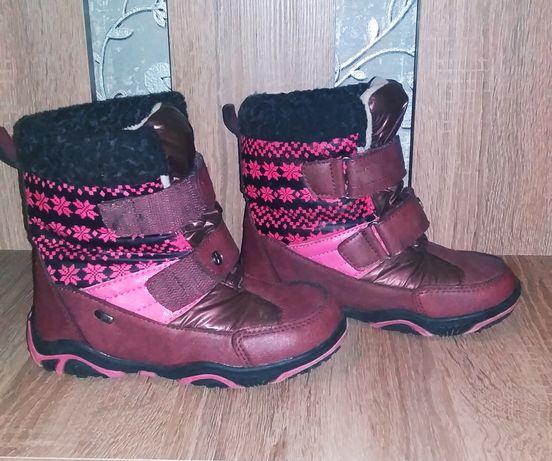 Термо сапоги, фирменные ботинки,17 см Деми,евро зима 27 р