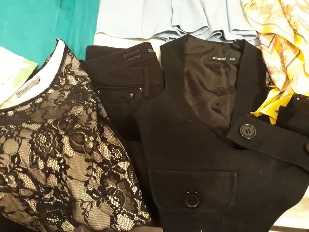 Paka ubrań 36 S 30 sztuk Zara H&M Levi's Mohito