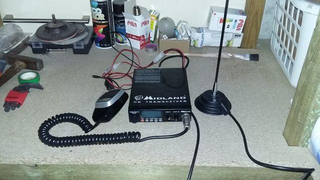 C B radio Midland + antena president