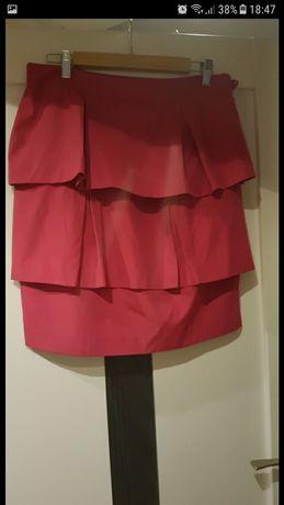 Malinowa spódnica L