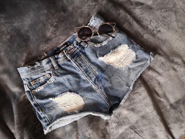 Nowe dżinsowe szorty S z wysokim stanem sinsay