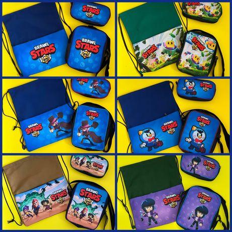 Набір сумка дитяча пенал мішок для обуві Спраут пі мортіс  Brawl stars