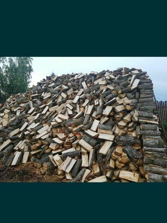 Drewno drzewo opałowe kominkowe dąb, buk, grab, sosna, akacja, brzoza