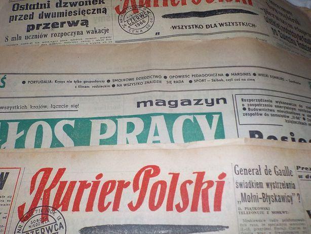 Kurier Polski Głos Pracy Magazyn Trybuna Robotnicza gazety