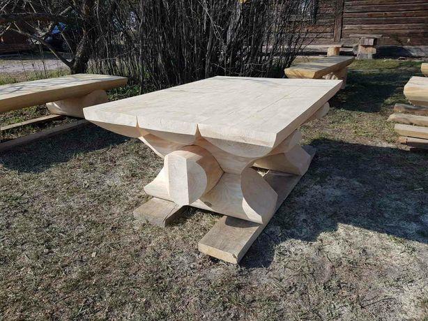 Столы из бревна. Сруб. Деревянная мебель