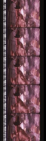 Fotogramas em película do filme Indiana Jones - Temple of Doom
