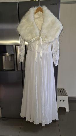 Suknia ślubna r36 komplet biała/ecru