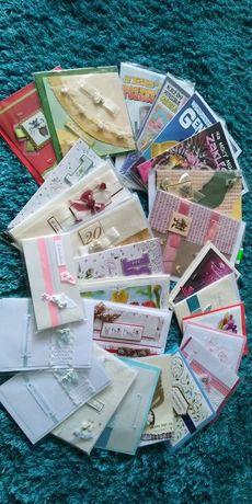 Kartki okolicznościowe na różne okazje 26 sztuk nowe z kopertami