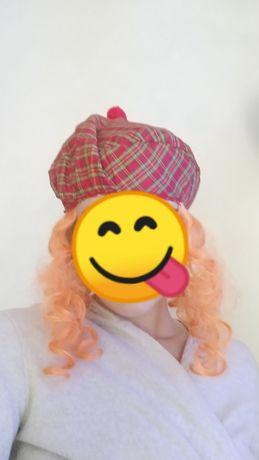 Шапка- парик, рыжие волосы