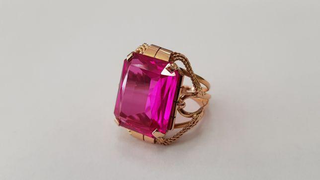 Przepiękny złoty pierścionek damski/ Rubin/ 585/ 9.2 gram/ R13/ sklep