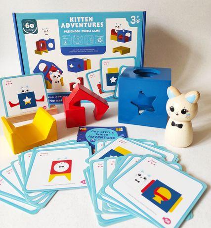 Настольная игра Приключения котёнка (аналог Кролик Бу Smart Games)