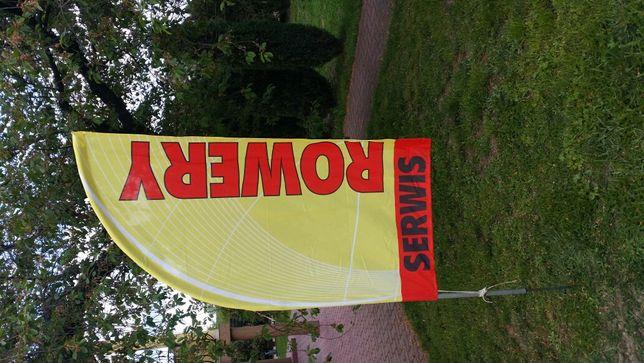 Flaga reklama potykacz winder, ROWERY, SERWIS