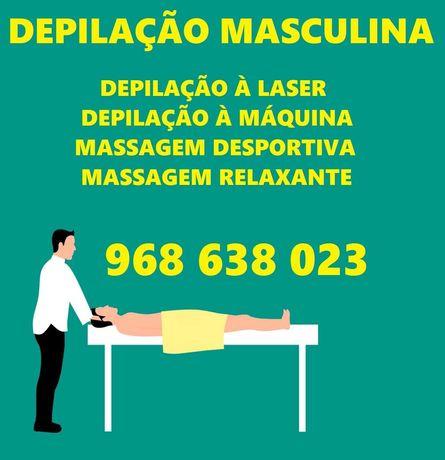 Depilação Masculina e Massagem Masculina