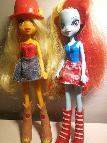 Apple Jack i Rainbow Dash lalki My Little Pony, słodkie przyjaciółki