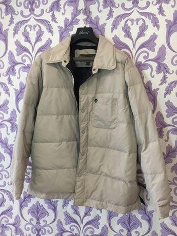 Куртка пуховик на пуху бежевая Timberland