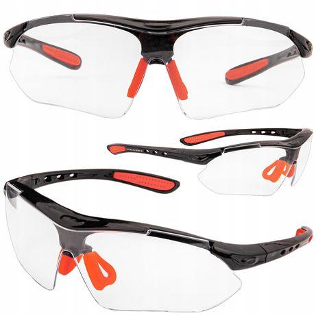 Okulary ochronne gogle robocze bezbarwne bhp (KOS138)