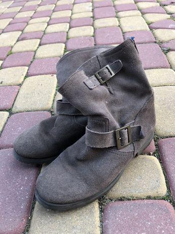 Buty jesienne, zimowe zamszowe
