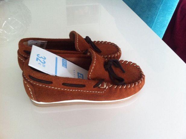 Sapatos mocasan camurça camel