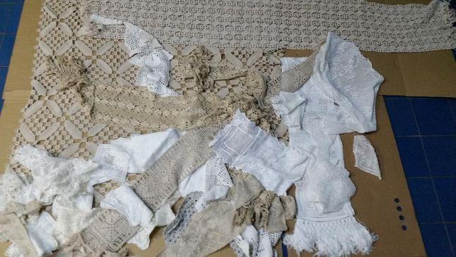 rendas bordados e croché - Toalhas e panos