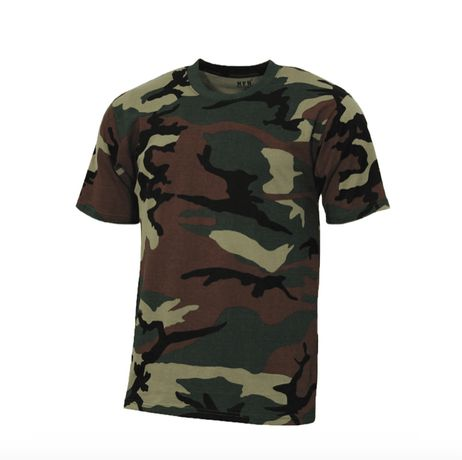 T-Shirt US Streetstyle woodland M + L