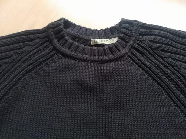 Ciemnobrązowy gruby sweter męski Reserved rozmiar M/38