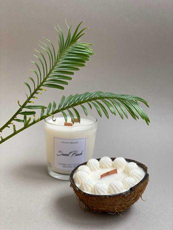 Свічки ручної роботи з соєвого воску (свечи)