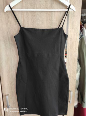 Czarna sukienka na ramiączkach Sinsay