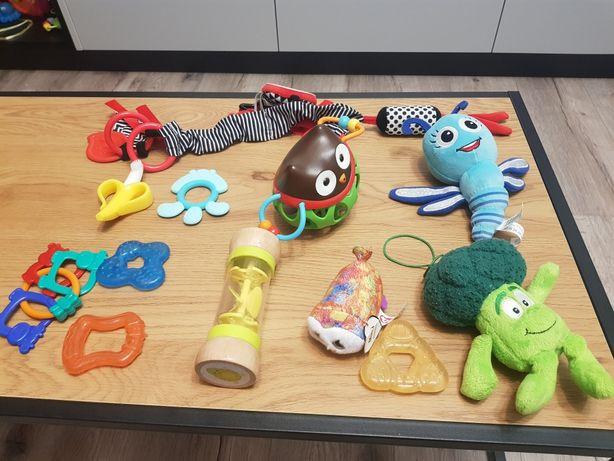 Zabawki gryzaki, maskotki, klucze. zawieszka do wózka