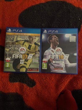 Sprzedam gry Fifa 17-18