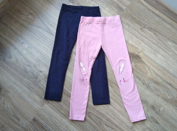 Spodnie, legginsy w r. 110, granatowe