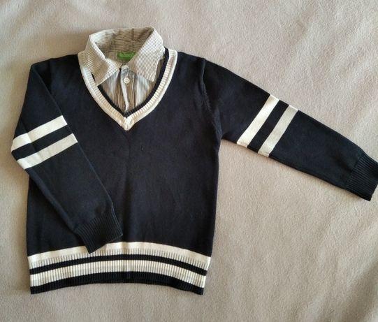 Джемпер-рубашка на мальчика