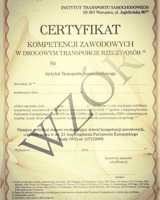 Zdobądź własny Certyfikat Kompetencji Zawodowych Przewoźnika CPC