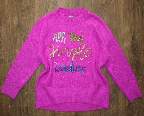 Нарядный зимний теплый свитер пуловер джемпер кофта 50 -52 размер