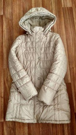 Пуховик бежевый. На 158 см, 13 лет. КІКО. Теплая куртка.