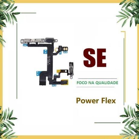 Flex Volume + Botão Power + Micro + Flash para Iphone SE C/Chapas