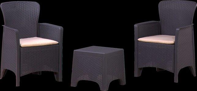 Conjunto de jardim - 2 cadeiras c/ mesa plástico