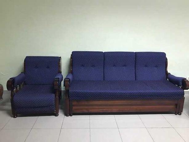Sofá cama e individuais