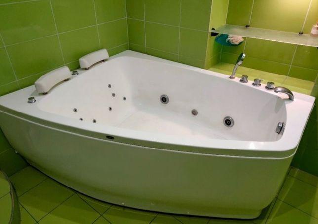ВАУ! Ванна с гидромассажем джакузи акриловая ассиметричная