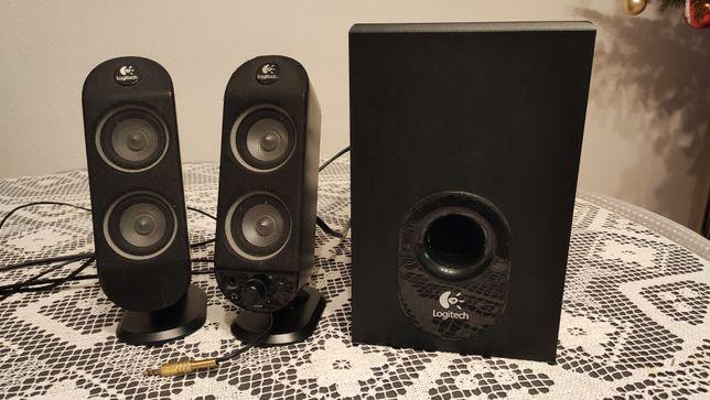 Głośniki Logitech z Subwooferem - Uszkodzone