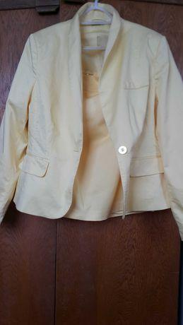 Komplet,żakiet i spódnica,żółte