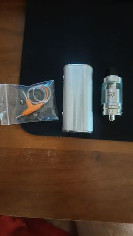 Вейп Jomo Lite 80 TC Silver/Бак Geekvape Ammit RTA Stainless Steel